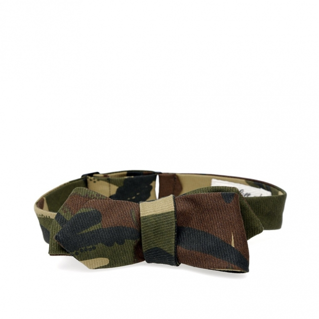 The Hill-Side Hungarian Camouflage Print Bow-Tie