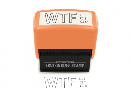 WTF Self-Inking Stamp