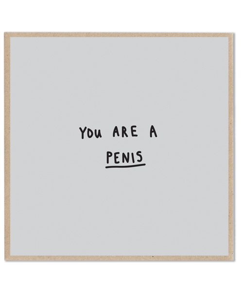 Lazy Oaf Penis Card