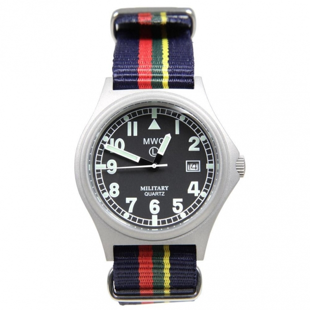 MWC G10BH Silver Military Watch
