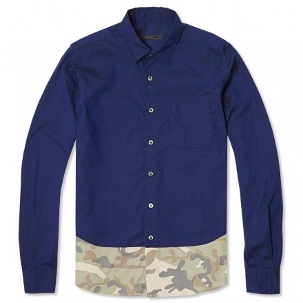 SOPHNET. Camouflage End Panel Shirt