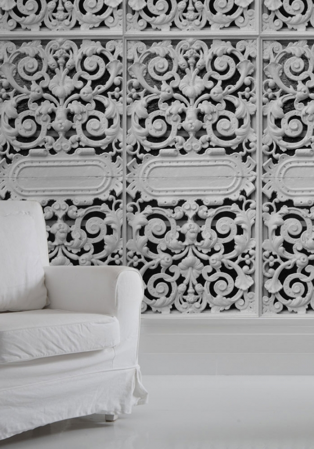 Wallpaper White Cast Iron