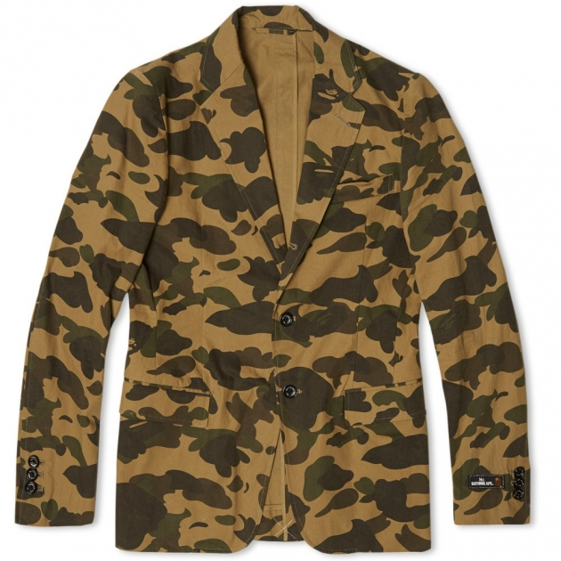 Mr. Bathing Ape 1st Camo 3 Button Blazer