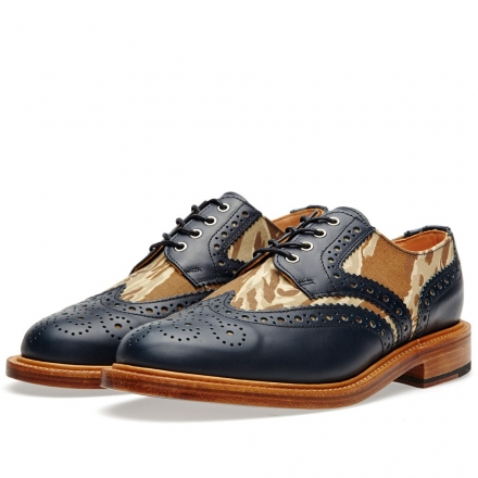 Mark McNairy Leather Sole Two-Tone Camo Brogue