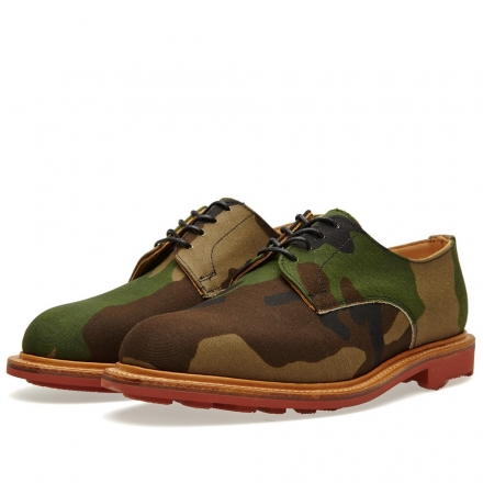 Mark McNairy Red Ridgeway Sole Camo Gibson Shoe