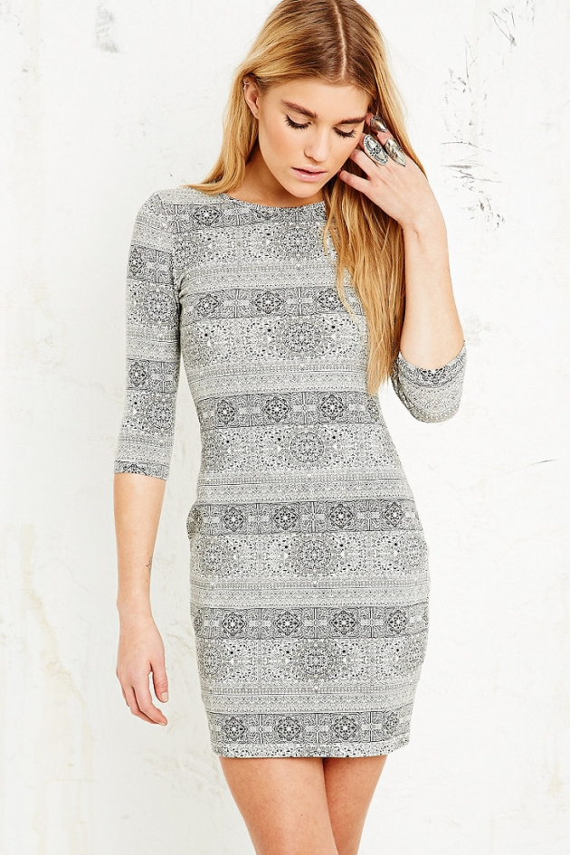 Truly Madly Deeply Rug Print Bodycon Dress