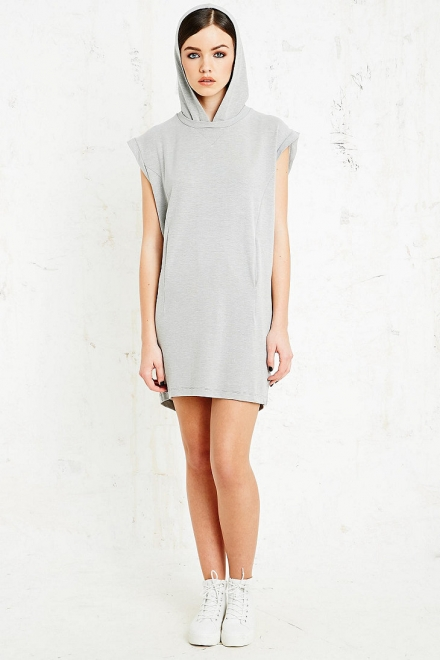 Hooded Dress in Grey