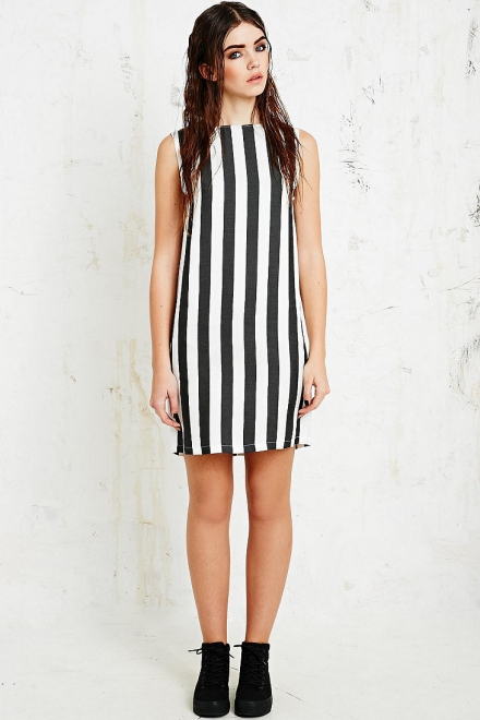Won Hundred Jenn Sleeveless Dress in Stripe Print