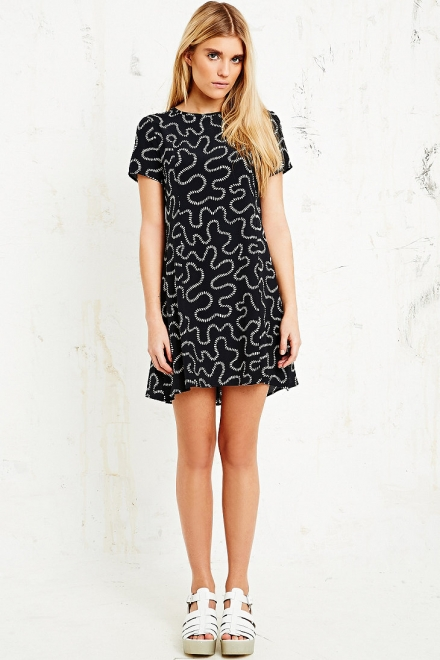 House of Hackney A-Line Dress in Squiggle Print