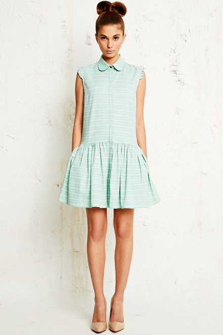 Antipodium Sissy Shirt Dress in Green