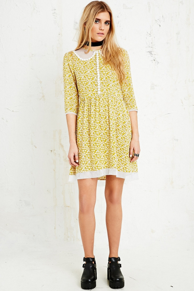 Little White Lies Celeste Grunge Dress in Floral