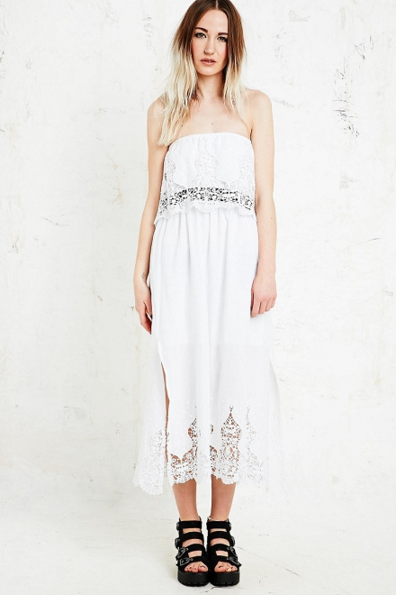 Little White Lies Jamie Midi Dress in White