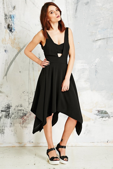 Carin Wester Augusta Crepe Napkin Dress