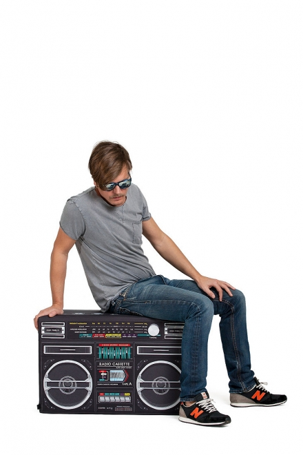 Woouf Boombox Floor Cushion in Black
