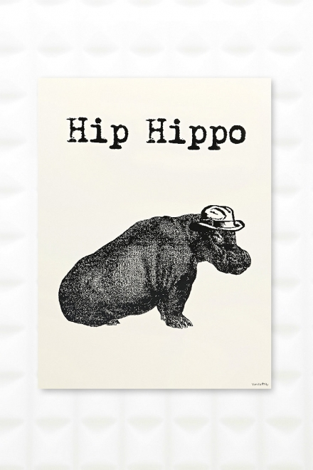 Hip Hippo Wall Art