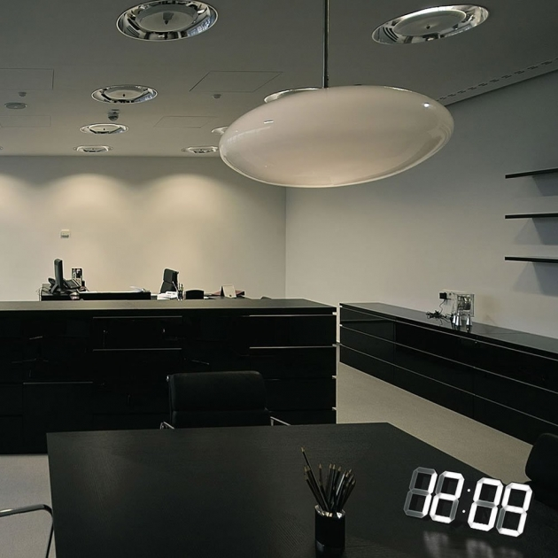 Kibardin Design Clock – White & White (Black Edition)