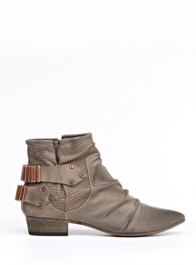 Mushroom Leather Lo Ankle Boot by FURY