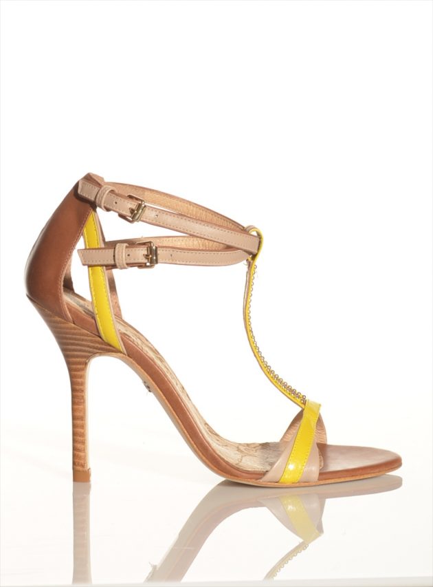 Carmen Lemon T-Bar Sandals