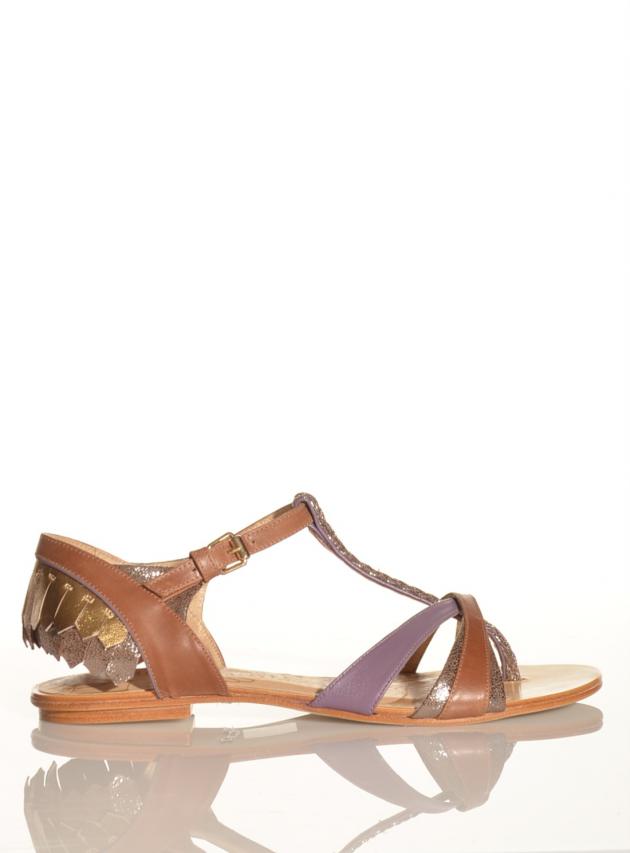 Mila Lilac Flat Sandal