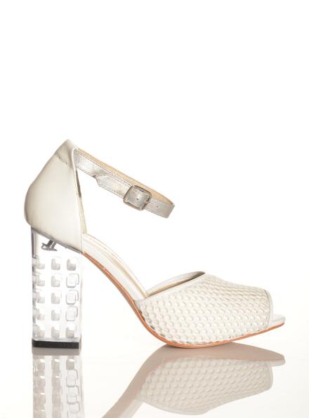 Eudon Choi x Joanne Stoker White Mesh Sandal