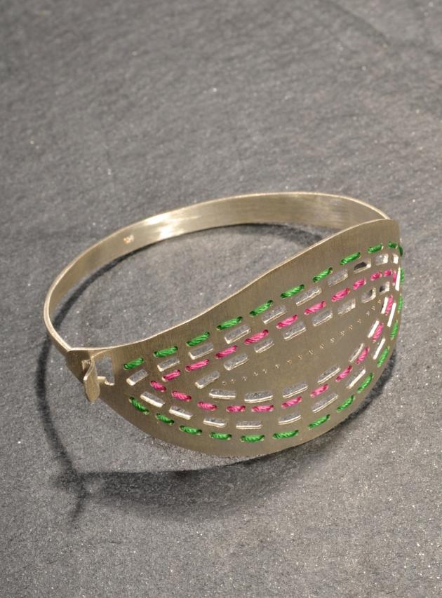 Yoko Leaf Bracelet in Silver