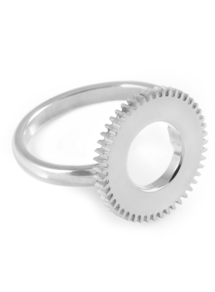 Silver Centre Of Time Ring