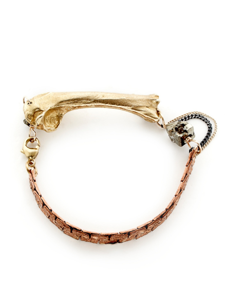 Bronze Medium Bone Bracelet