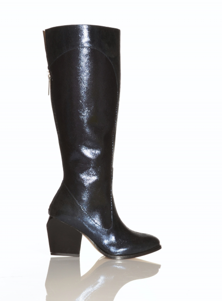 Valenka Knee High Boot in Navy Blue