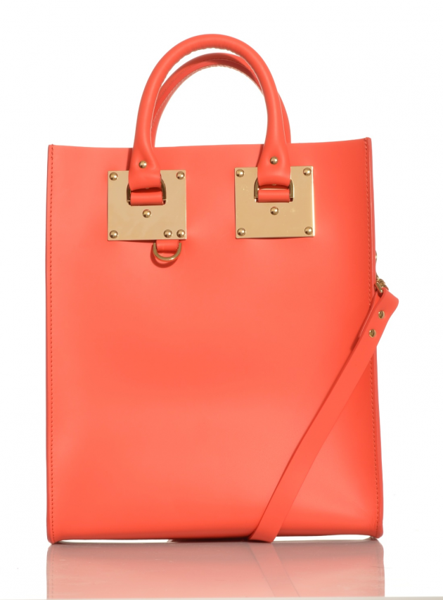 Brightest Red Structured Mini Tote Bag