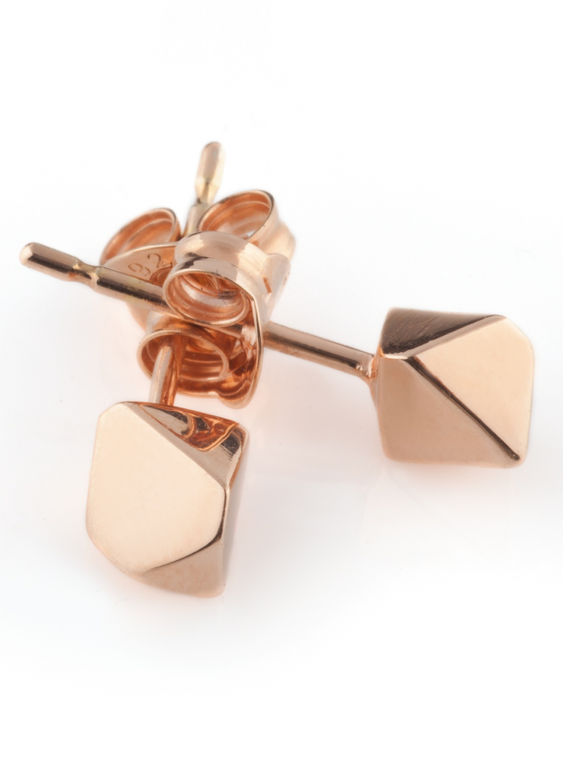 Rose Gold Meteor Earring Studs