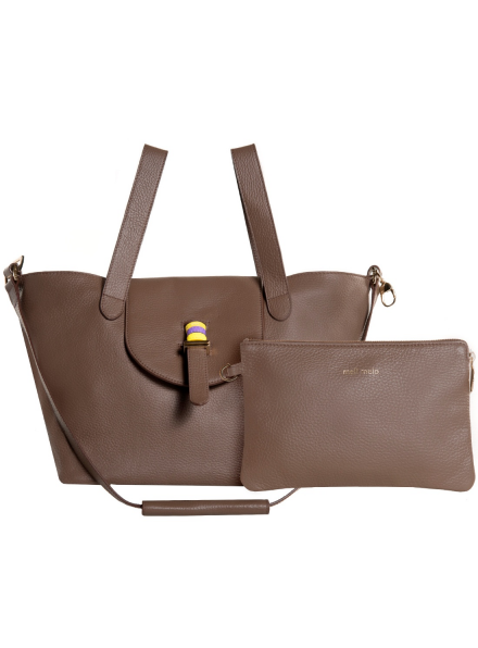 Medium Thela Bag in Moka Cervo Leather