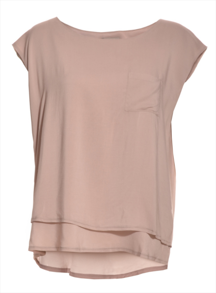 Aries Slouchy Viscose Tee in Stone