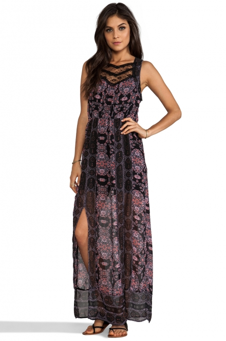 Free People Maxi Dress in Morrocan Print