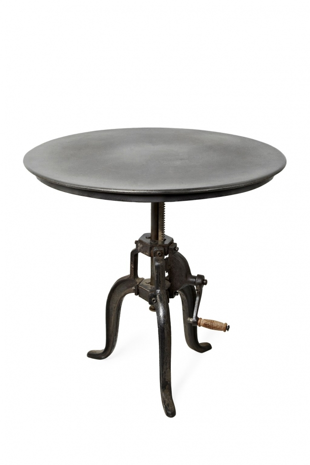 GUNMETAL BISTRO TABLE