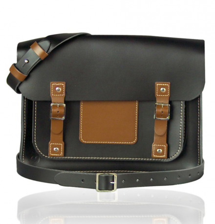 URBANE ALL DAY SATCHEL – BLACK AND BROWN