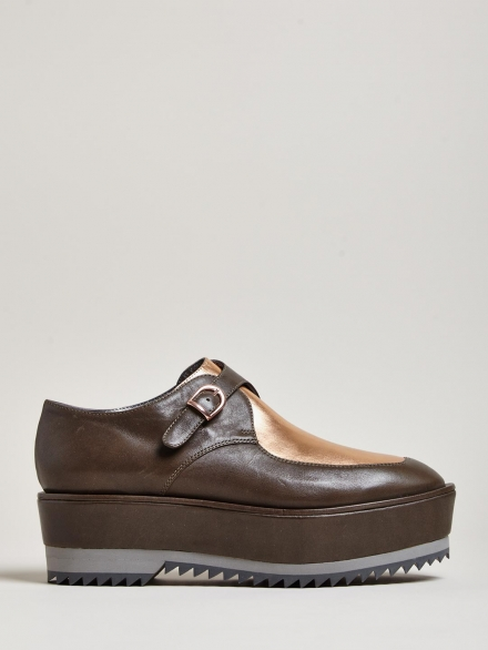 FALKA HIGH CREEPER LEATHER SHOES