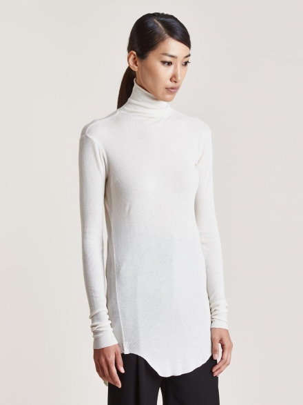 TILE LIGHT JERSEY TURTLE NECK TOP