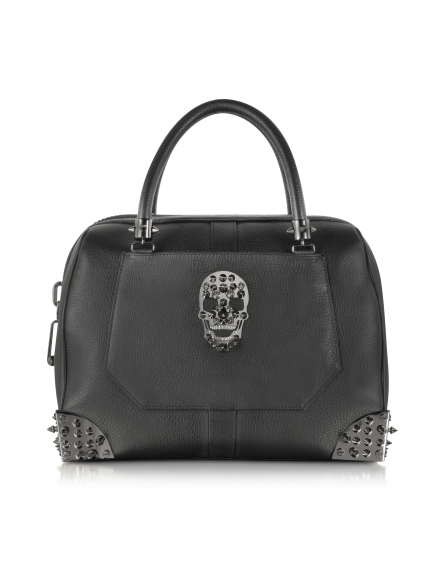 PHILIPP PLEIN Shiny Black Handbag
