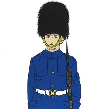 Silkscreen print – royal palace guard from London