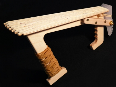 "ScatterMek-49 ""Bigfoot"" Rapid-fire Rubber Band Scatter Gun"