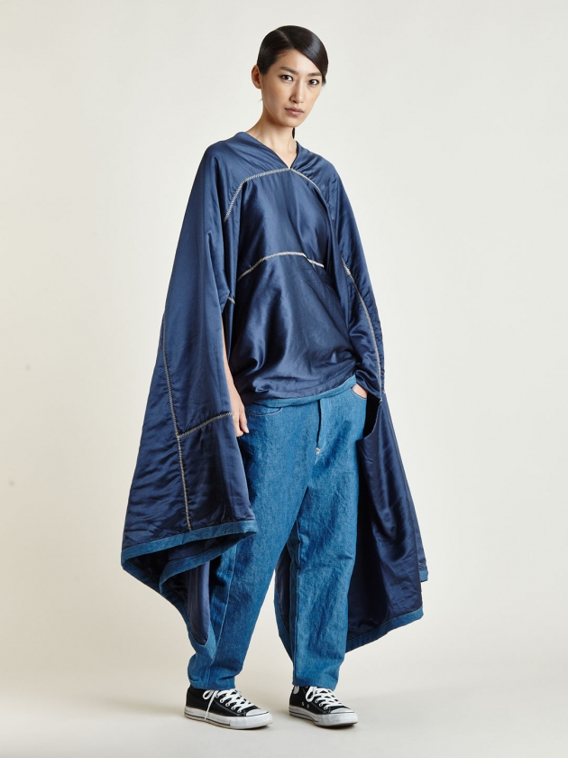 LEVI'S RED LARGE INDIGO SILK QUILT