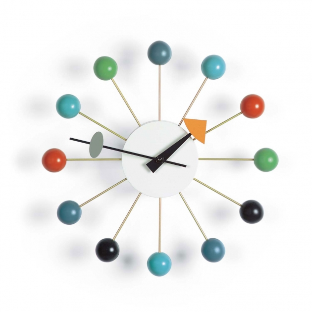 Multi Coloured Ball Clock