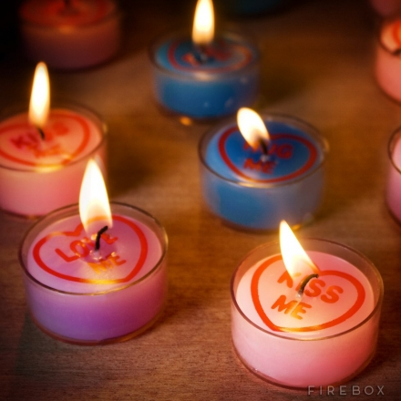 LOVE HEARTS TEALIGHTS