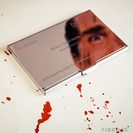 PATRICK BATEMAN BUSINESS CARD HOLDER