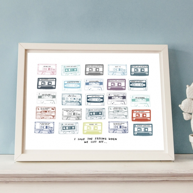 Personalised Play List Cassette Print