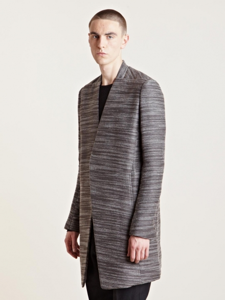 RICK OWENS MEN'S ALPACA WRAP COAT