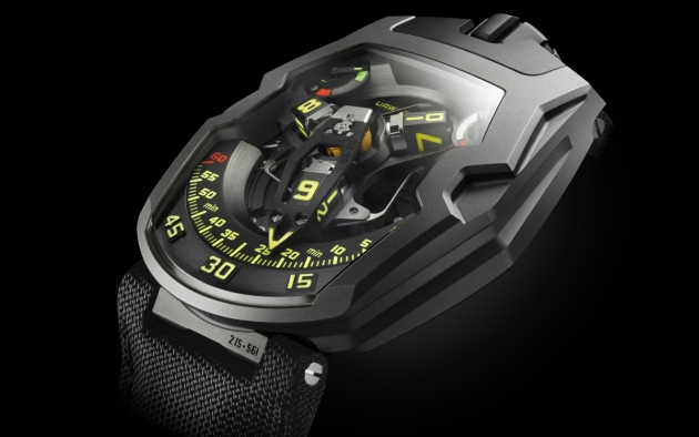 The Urwerk UR-210Y Black Hawk