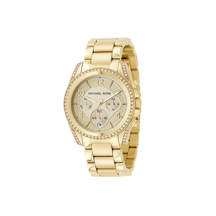 Michael Kors Crystal Round Gold Bracelet Watch