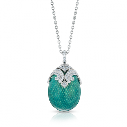 Fabergé Egg Pendant – EMAUX SOPHIA GREEN PENDANT