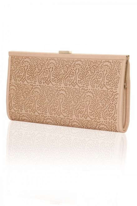 Nude Laser Cut Clutch Bag